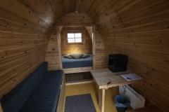 Camping Pod with mini fridge